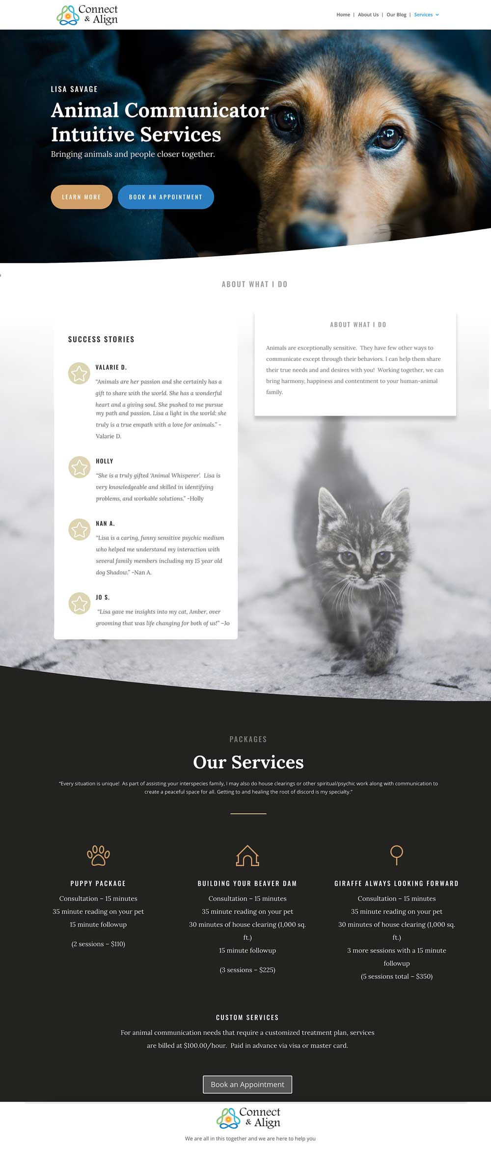 Pet Intuitive Website