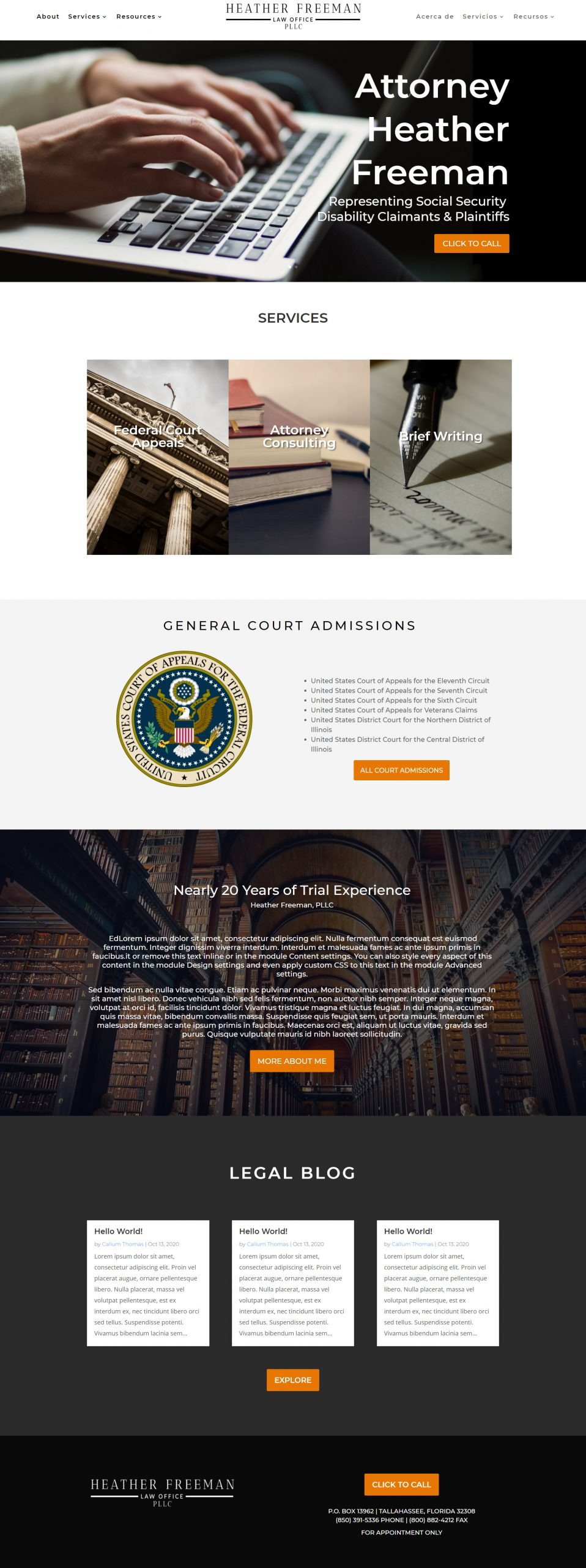 Attorney at Law Office Website
